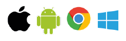 iOS, Chrome, Android, Windows